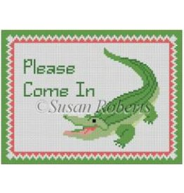 Susan Roberts Alligator &quot;Please Come In&quot;<br />7x4.5&quot;