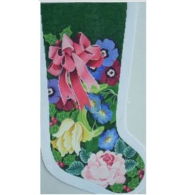 Julia Floral w/Bow Stocking