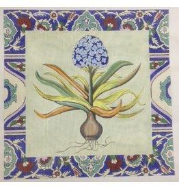 Julia Blue Hyacinth<br />16&quot;x16&quot;