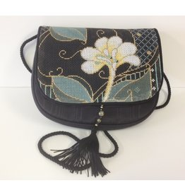 Sophia Designs Single Floral black purchase with stitched front<br />