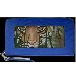 Colonial Needle Zip-top wallet/blue 8x4.5
