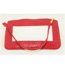 Colonial Needle Wrist Bag / Alligator Red<br />