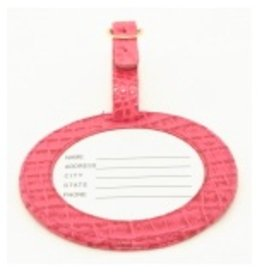 Colonial Needle ID tag/alligator pink