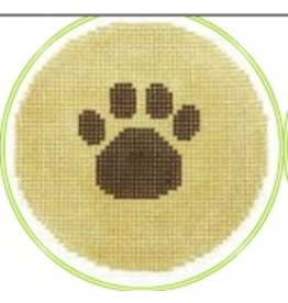 """Colonial Needle Pawprint 3"""" Round"""