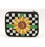 Alice Peterson Sunflower coin purse/ credit card case