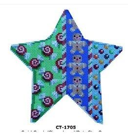 Associated Talent Gingerbread Star - ornament