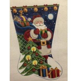 Rebecca Wood Santa Claus Stocking
