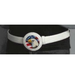 Colonial Needle Lee Belt - one size fits all - white<br />1.3&quot; width, 52 inches long - 3&quot; round stitched circle buckle