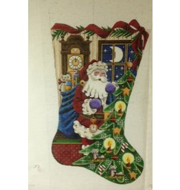Rebecca Wood Christmas Time stocking<br />11&quot; x 19&quot;