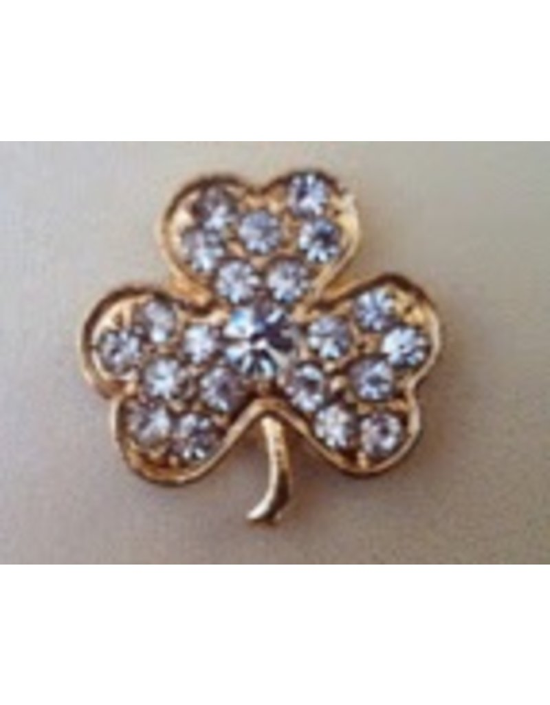 Accoutrement Designs Clear Shamrock Magnet -  Small