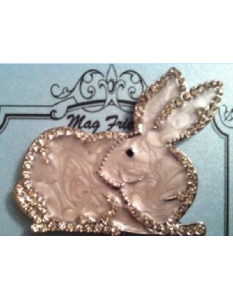 Accoutrement Designs Bunny magnet - large