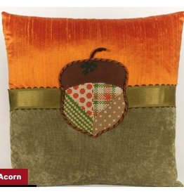 Marlene Acorn on Orange and Green pillow - self finishing