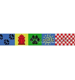 Susan Roberts Checker & Paws, dog collar