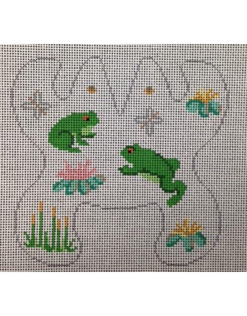 Canvas Connection Frog (mini size) Beanbag<br />7&quot; x 7&quot;