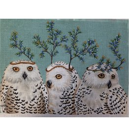 Melissa Shirley Festive Owls<br />15&quot; x 11&quot;