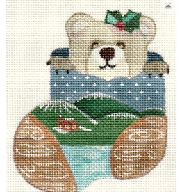 A Bradley Wood Bear Mini Stocking ornament