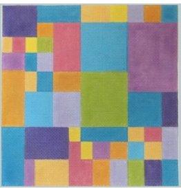 Julie Mar Squares - Rainbow Colors<br />9&#039; x 9&quot;