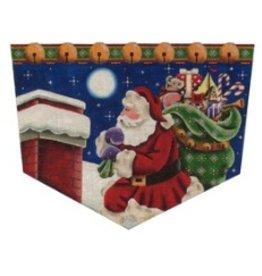 Rebecca Wood Christmas Night Stocking Cuff