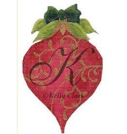 Kelly Clark July Ruby ornament<br />6&quot; x 3.5&quot;