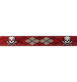Elizabeth Turner Skull & Crossbones, Red Arygle belt