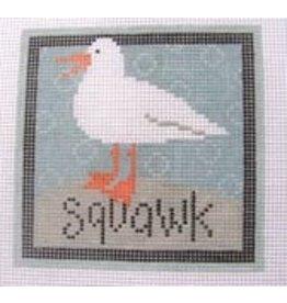 Pippin Studio Squawk - coaster<br />4.5&quot; x 4.5&quot;