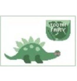 Kathy Schenkel Dinosaur Toothfairy Pillow<br />6&quot; x 4&quot;