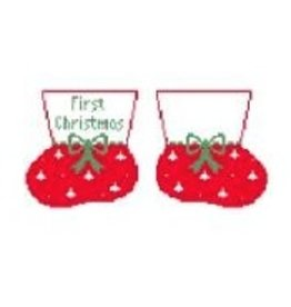 Kathy Schenkel First Christmas Booties - ornament (Red)