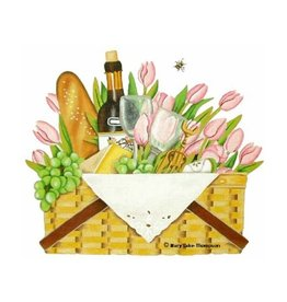 Melissa Shirley Wine &amp; Tulips Basket<br />