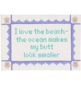 Stitch-It &quot;I love the beach - the ocean makes my butt look smaller&quot;<br />