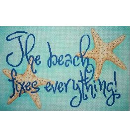 Associated Talent &quot;The Beach Fixes Everything&quot; saying with starfish<br />