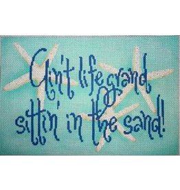 "Associated Talent ""Ain't Life Grand Sitting in the Sand""    12"" x 8"""