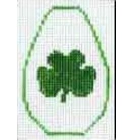 Elizabeth Turner Shamrock - Brown Leaher Key Ring