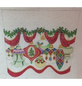 Strictly Christmas Stocking Cuff of Ornaments #1<br />