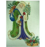 All About Stitching Pere Noel I Stocking<br />Green Coat<br />25&quot;x14&quot;