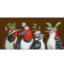 Melissa Shirley Woodpecker&#039;s Night Out<br />12&quot; x 6&quot;