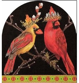 Melissa Shirley Cardinal Dome<br />6.5&quot; x 7&quot;