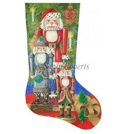 Susan Roberts Santa Nutcracker Stocking