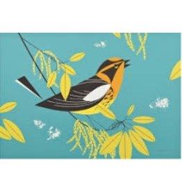 Treglown Charley Harper&#039;s Blackburnian Warbler<br />12&quot; x 8&quot;