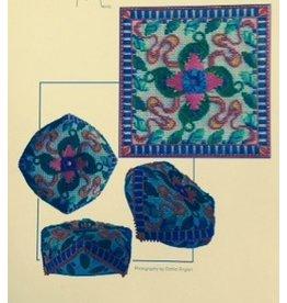Ruth Schmuff Lily Pond Buscornu<br />w/backing fabric &amp; Stitch Guide<br />4.5&quot; x 4.5&quot;