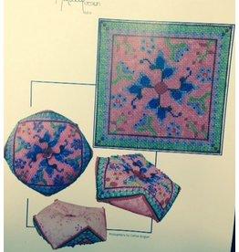 Ruth Schmuff Butterfly Biscornu<br />w/backing fabric &amp; Stitch Guide<br />4.5&quot; x 4.5&quot;