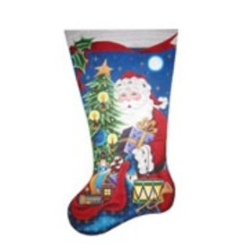 Rebecca Wood Santa's Gifts Stocking