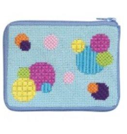 Alice Peterson Bubbles coin purse/credit card case