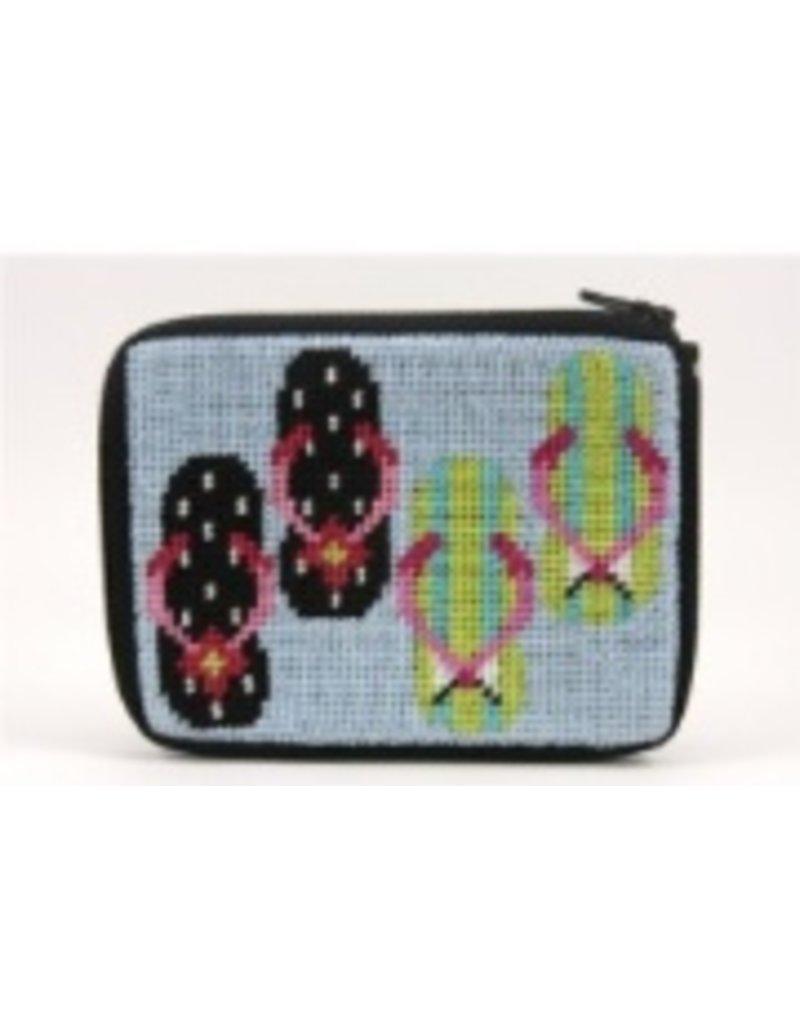 Alice Peterson Flip Flops coin purse/credit card case