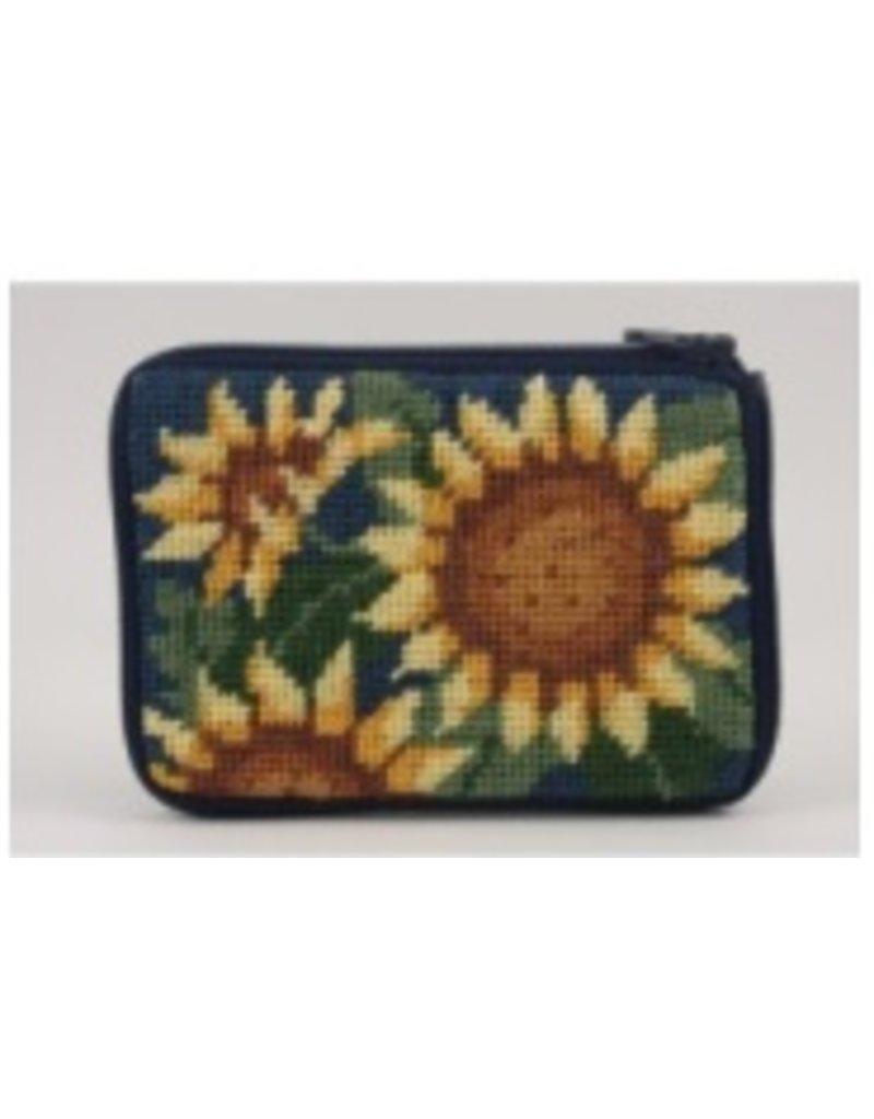 Alice Peterson Sunflower coin purse/credit card case