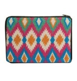Alice Peterson Ikat cosmetic purse