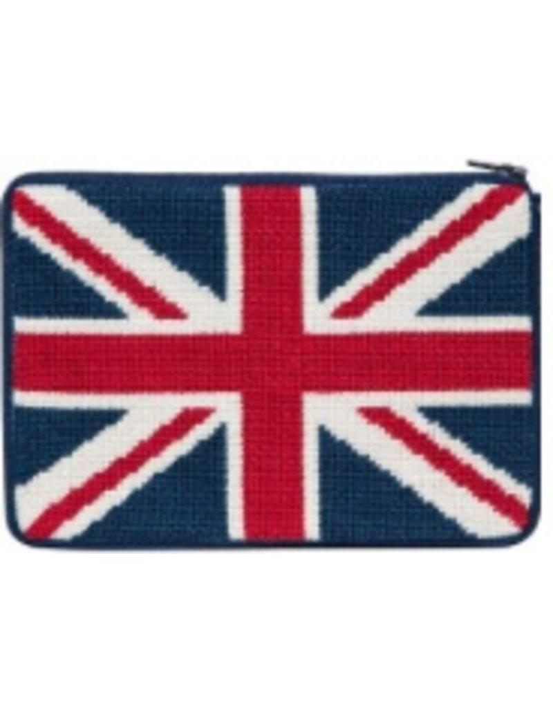 Alice Peterson British Flag cosmetic purse