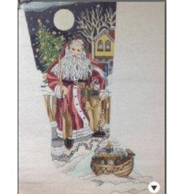JB Designs Santa with Noah's Arc stocking