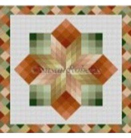 Susan Roberts Pinwheel Cubes, quilt<br />10&quot; x 10&quot;