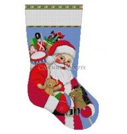 Susan Roberts Santa Carrying Toys stocking