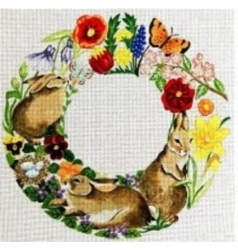 Susan Roberts Rabbits in Spring Flowers - Wreath<br />